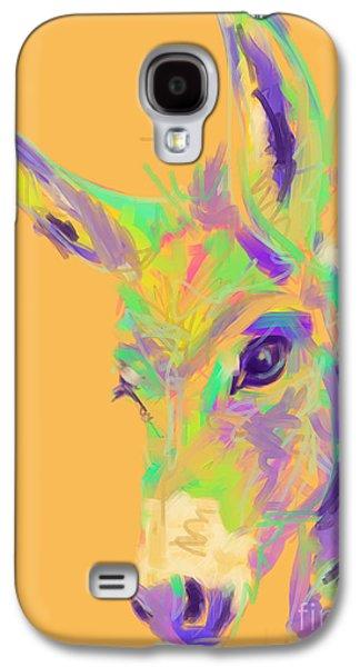 Donkey Digital Art Galaxy S4 Cases - Color Donkey Galaxy S4 Case by Go Van Kampen