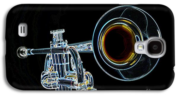 Business Drawings Galaxy S4 Cases - Color Drawing of a Trumpet Bell Isolated 3018.05 Galaxy S4 Case by M K  Miller