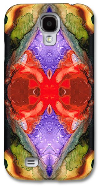 Visionary Paintings Galaxy S4 Cases - Color Echo - Pattern Art By Sharon Cummings Galaxy S4 Case by Sharon Cummings