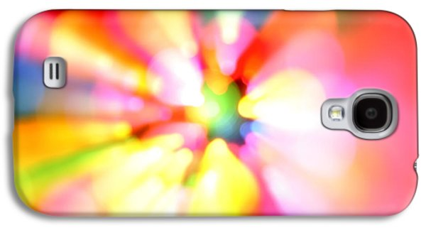 Multicolored Digital Galaxy S4 Cases - Color explosion Galaxy S4 Case by Les Cunliffe