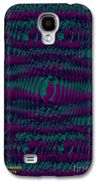 Abstract Digital Jewelry Galaxy S4 Cases - Color Fantasia Catus 1 no 2 V Galaxy S4 Case by Gert J Rheeders