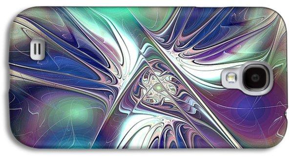 Abstract Digital Mixed Media Galaxy S4 Cases - Color Flash Galaxy S4 Case by Anastasiya Malakhova
