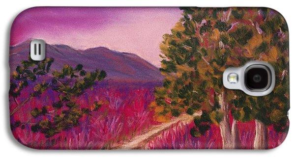 Surrealism Pastels Galaxy S4 Cases - Color it Purple Galaxy S4 Case by Anastasiya Malakhova