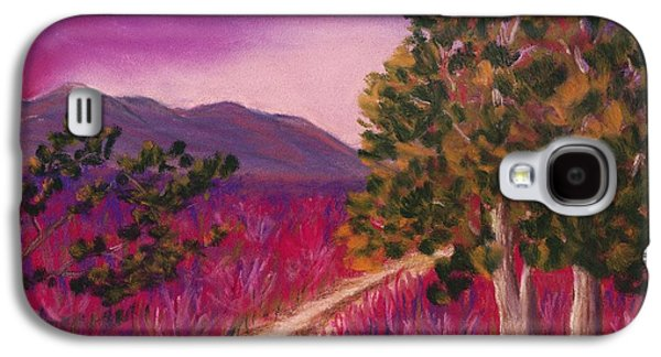 Cottage Galaxy S4 Cases - Color it Purple Galaxy S4 Case by Anastasiya Malakhova