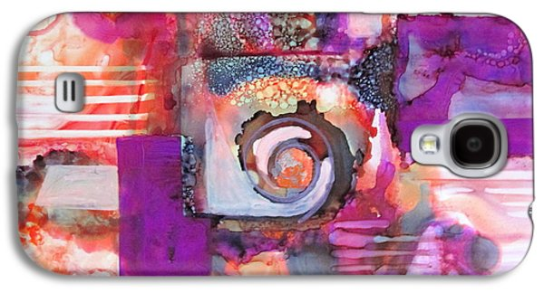Curvilinear Paintings Galaxy S4 Cases - Color my way Galaxy S4 Case by Patricia Mayhew Hamm