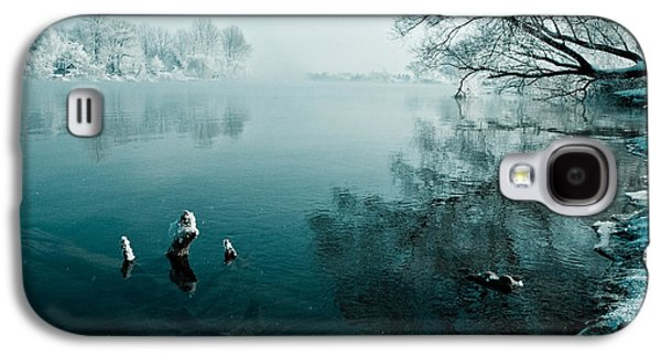 Landscapes Photographs Galaxy S4 Cases - Color of Ice Galaxy S4 Case by Davorin Mance