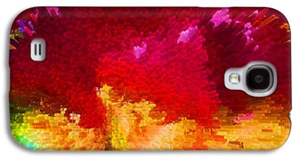 Vibrant Colors Digital Galaxy S4 Cases - Color Shock 4 - Vibrant Digital Painting Galaxy S4 Case by Sharon Cummings