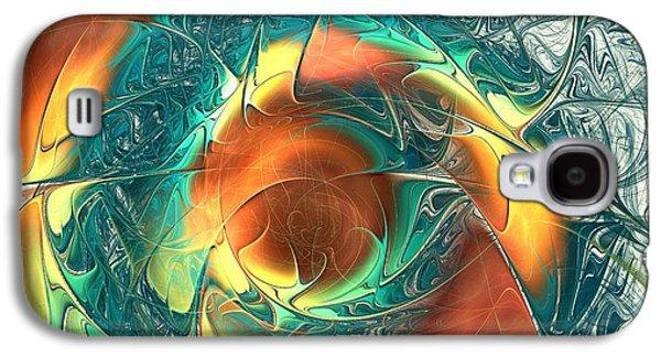 Glowing Galaxy S4 Cases - Color Spiral Galaxy S4 Case by Anastasiya Malakhova