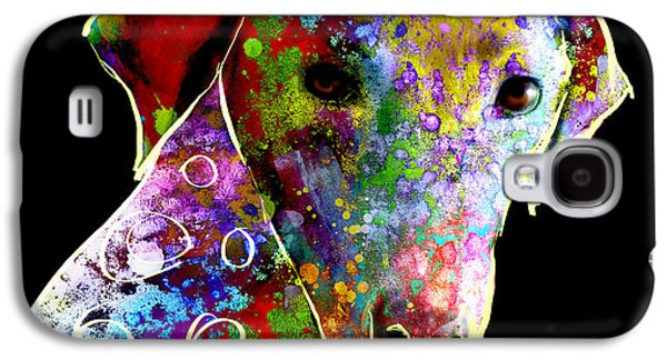 Dogs Digital Galaxy S4 Cases - Color Splash Abstract Dog Art  Galaxy S4 Case by Ann Powell