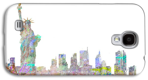 Colorful Abstract Galaxy S4 Cases - Color Splash New York Galaxy S4 Case by Aimee Stewart