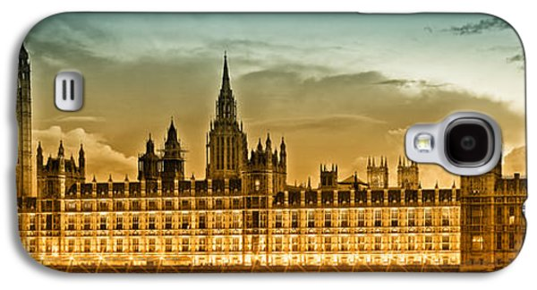 Old Town Digital Art Galaxy S4 Cases - Color Study LONDON Houses of Parliament Galaxy S4 Case by Melanie Viola