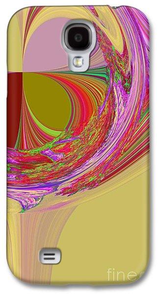 Abstract Digital Mixed Media Galaxy S4 Cases - Color Symphony Galaxy S4 Case by Loredana Messina