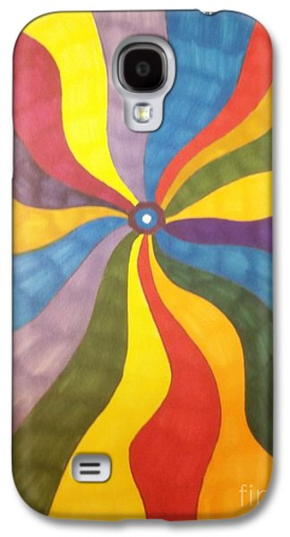 Development Mixed Media Galaxy S4 Cases - Color Wave Galaxy S4 Case by Janet Berch