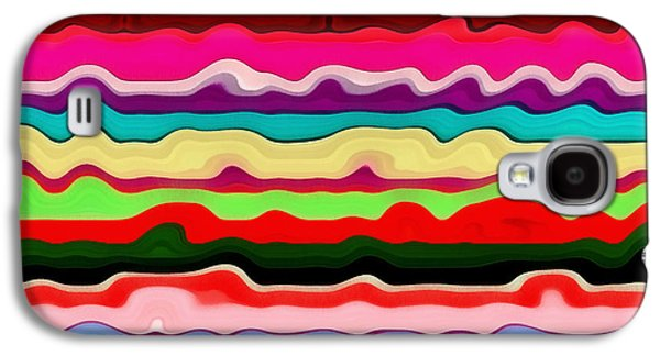 Textural Galaxy S4 Cases - Color Waves No. 1 Galaxy S4 Case by Michelle Calkins