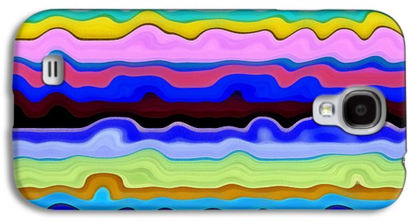 Textural Galaxy S4 Cases - Color Waves No. 4 Galaxy S4 Case by Michelle Calkins