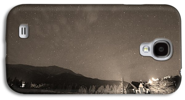 Catherine White Galaxy S4 Cases - Colorado Chapel On The Rock Dreamy Night Sepia Sky Galaxy S4 Case by James BO  Insogna
