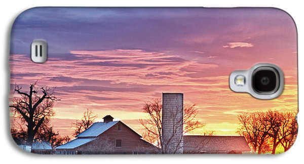 Landscape Acrylic Prints Galaxy S4 Cases - Colorado Country Morning Sunrise Galaxy S4 Case by James BO  Insogna
