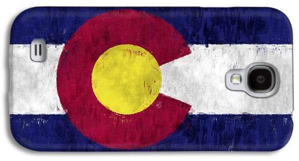 Flag Of Usa Galaxy S4 Cases - Colorado Flag Galaxy S4 Case by World Art Prints And Designs