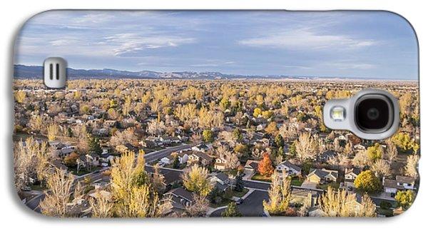 Fort Collins Galaxy S4 Cases - Colorado homes aerial view Galaxy S4 Case by Marek Uliasz
