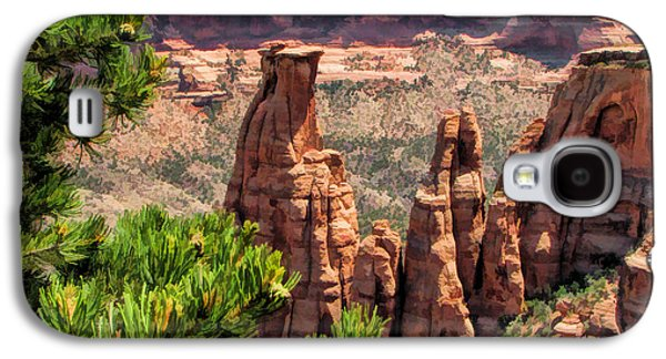 Monolith Galaxy S4 Cases - Colorado National Monument Canyon Monoliths Galaxy S4 Case by Christopher Arndt