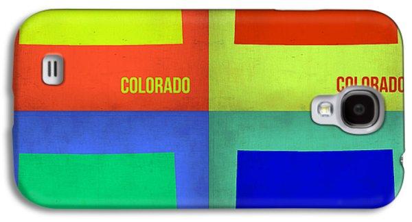 Colorado Galaxy S4 Cases - Colorado Pop Art Map 2 Galaxy S4 Case by Naxart Studio