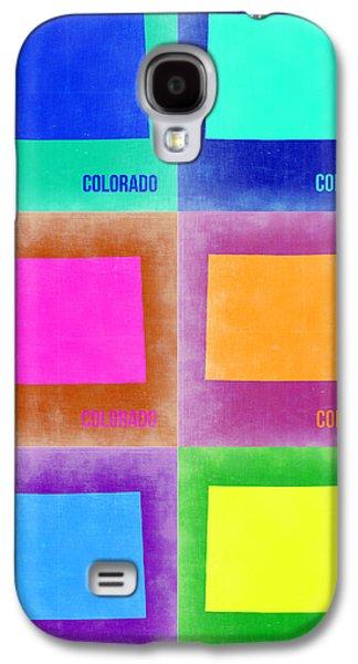Colorado Galaxy S4 Cases - Colorado Pop Art Map 3 Galaxy S4 Case by Naxart Studio