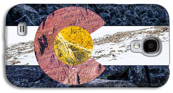 Colorado State Flag With Mountain Textures Galaxy S4 Case by Aaron Spong