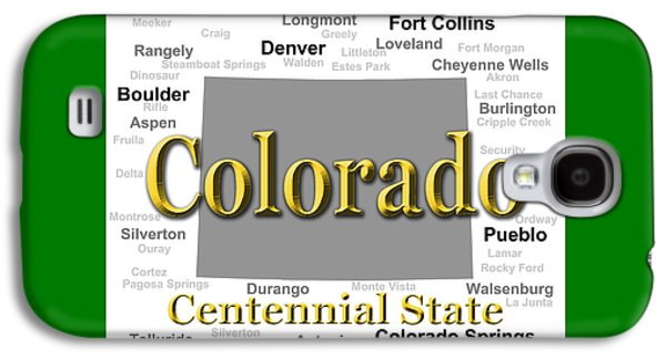 Fort Collins Galaxy S4 Cases - Colorado State Pride Map Silhouette  Galaxy S4 Case by Keith Webber Jr