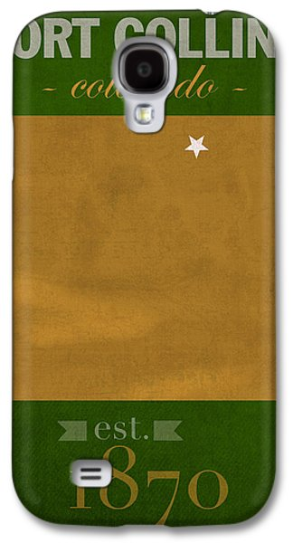 Fort Collins Galaxy S4 Cases - Colorado State University Rams Fort Collins College Town State Map Poster Series No 032 Galaxy S4 Case by Design Turnpike