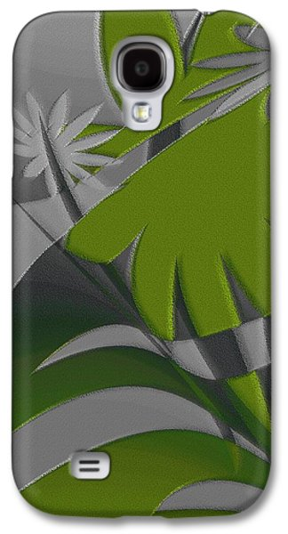 Ben Gertsberg Digital Art Galaxy S4 Cases - Colored Jungle Green Galaxy S4 Case by Ben and Raisa Gertsberg