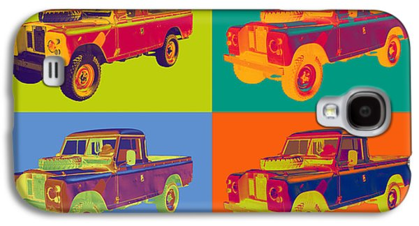 Exploration Galaxy S4 Cases - Colorful 1971 Land Rover Pick up Truck Pop Art Galaxy S4 Case by Keith Webber Jr