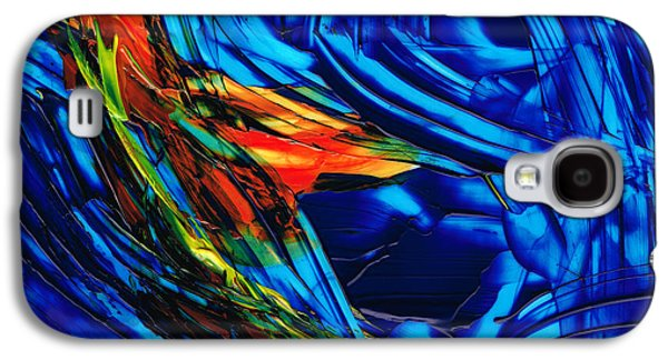 Abstract Movement Galaxy S4 Cases - Colorful Abstract Art - Energy Flow 1 - By Sharon Cummings Galaxy S4 Case by Sharon Cummings