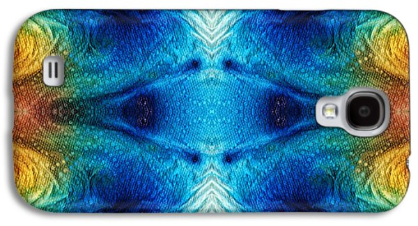Mystic Paintings Galaxy S4 Cases - Colorful Abstract Art Pattern - Color Wheels - By Sharon Cummings Galaxy S4 Case by Sharon Cummings