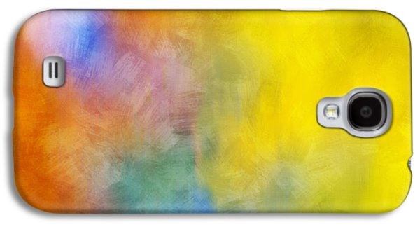 Abstracts Galaxy S4 Cases - Colorful Abstract Painting Galaxy S4 Case by Christina Rollo