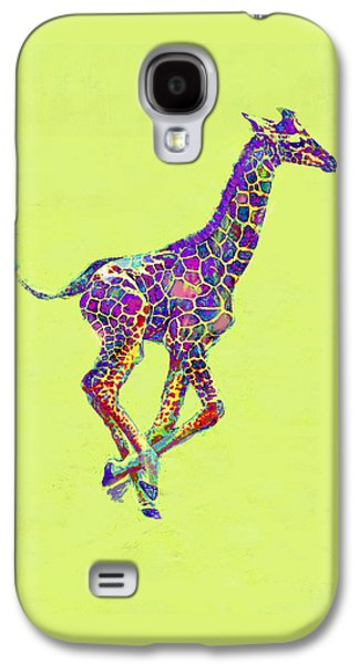 Colorful Baby Giraffe Galaxy S4 Case by Jane Schnetlage