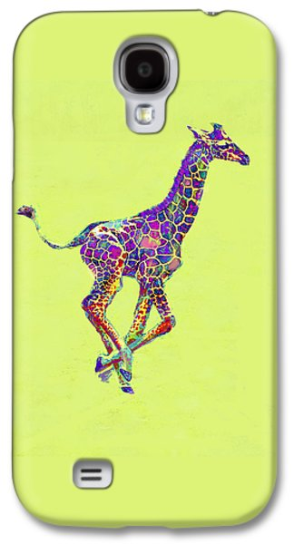 Giraffe Digital Galaxy S4 Cases - Colorful Baby Giraffe Galaxy S4 Case by Jane Schnetlage