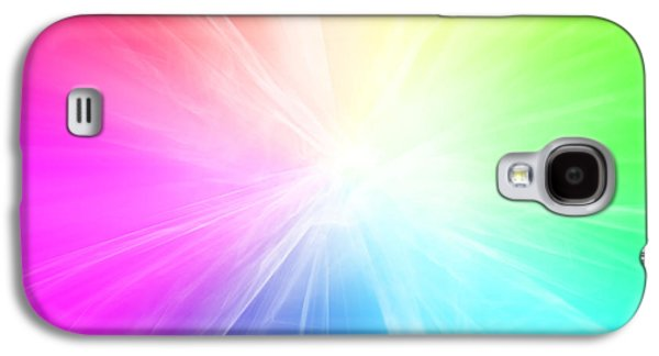 Colorful Abstract Galaxy S4 Cases - Colorful background Galaxy S4 Case by Les Cunliffe
