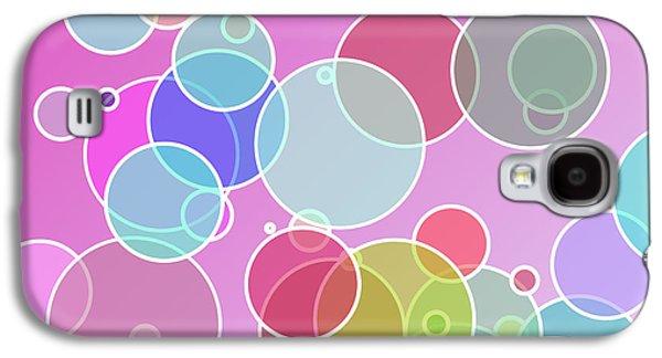 Geometric Digital Art Galaxy S4 Cases - Colorful bubbles Galaxy S4 Case by Gaspar Avila