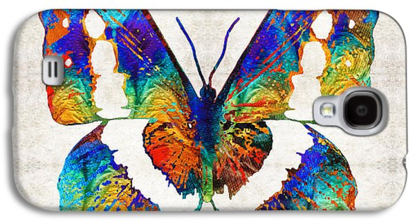 Freedom Paintings Galaxy S4 Cases - Colorful Butterfly Art by Sharon Cummings Galaxy S4 Case by Sharon Cummings