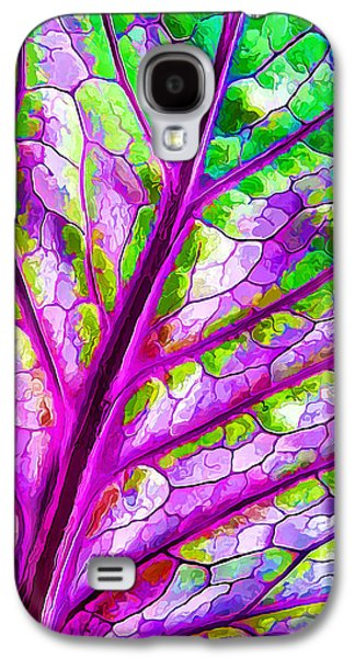 Photo Manipulation Galaxy S4 Cases - Colorful Coleus Leaf Abstract 1 Galaxy S4 Case by Bill Caldwell -        ABeautifulSky Photography