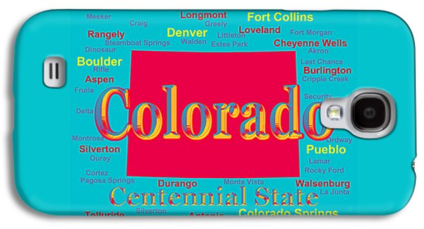 Fort Collins Galaxy S4 Cases - Colorful Colorado State Pride Map Silhouette  Galaxy S4 Case by Keith Webber Jr