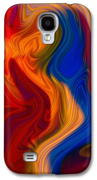 Abstract Digital Mixed Media Galaxy S4 Cases - Colorful Compromises II Galaxy S4 Case by Omaste Witkowski