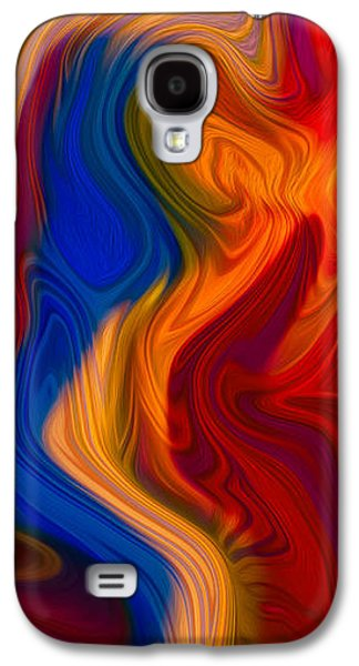 Abstract Digital Mixed Media Galaxy S4 Cases - Colorful Compromises Galaxy S4 Case by Omaste Witkowski