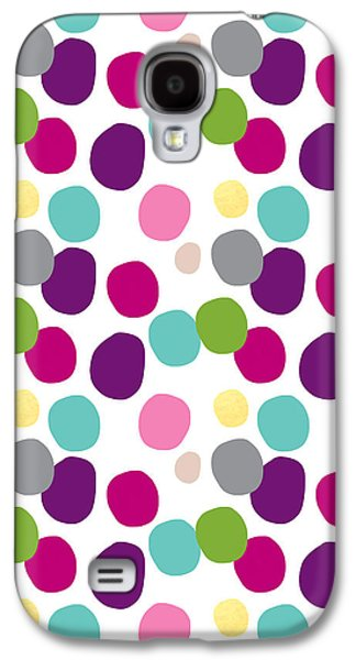 Celebration Mixed Media Galaxy S4 Cases - Colorful Confetti 2 Galaxy S4 Case by Linda Woods