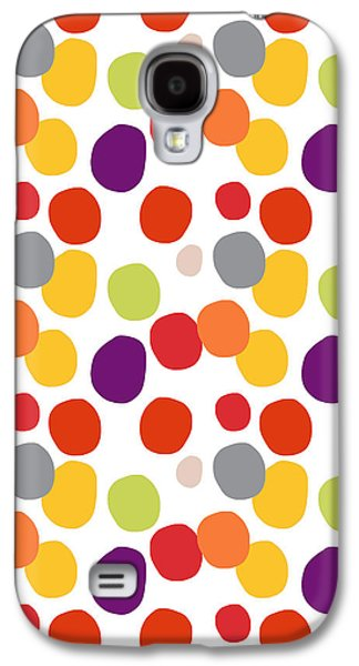 Painted Mixed Media Galaxy S4 Cases - Colorful Confetti  Galaxy S4 Case by Linda Woods
