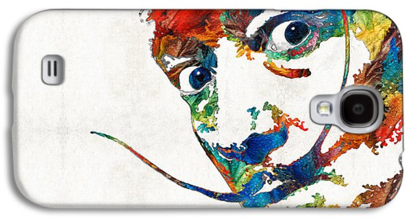 Icons Prints Paintings Galaxy S4 Cases - Colorful Dali Art by Sharon Cummings Galaxy S4 Case by Sharon Cummings