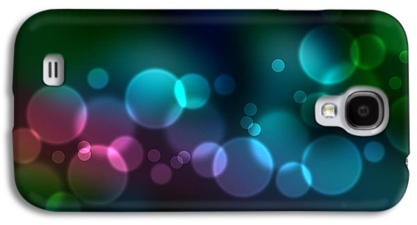 Light Drawings Galaxy S4 Cases - Colorful defocused lights Galaxy S4 Case by Aged Pixel