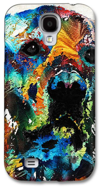Colorful Dog Art - Heart And Soul - By Sharon Cummings Galaxy S4 Case by Sharon Cummings