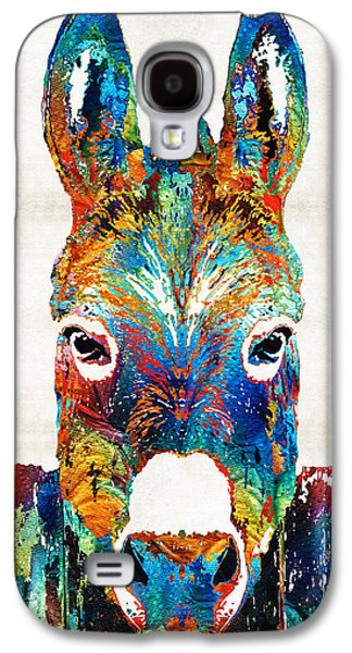 Colorful Donkey Art - Mr. Personality - By Sharon Cummings Galaxy S4 Case by Sharon Cummings