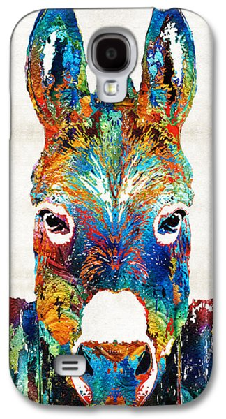 Schools Galaxy S4 Cases - Colorful Donkey Art - Mr. Personality - By Sharon Cummings Galaxy S4 Case by Sharon Cummings